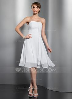Bridesmaid Dresses - $89.99 - A-Line/Princess Sweetheart Knee-Length Chiffon Bridesmaid Dress With Ruffle (007051867) http://jjshouse.com/A-Line-Princess-Sweetheart-Knee-Length-Chiffon-Bridesmaid-Dress-With-Ruffle-007051867-g51867