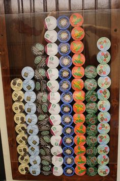 Decisions, decisions. I love the K Cup holder my hubby made me. Holds 120!