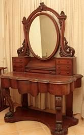 Victorian Vanity. To die for !!! This is sooo me, but imagine it painted.