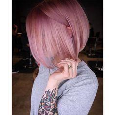 pink hair Blush Pink Rose Hair Color Formula And Application Dusty Pink Hair, Rose Pink Hair, Pastel Pink Hair, Hair Color Pink, Blush Pink, Blush Color, Weird Hair Colors, Dusty Rose Hair Color, Purple Hair