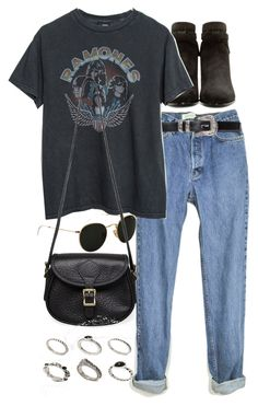 """""""Untitled #9293"""" by nikka-phillips ❤ liked on Polyvore featuring Yves Saint Laurent, Ray-Ban, J.W. Hulme Co. and ASOS"""