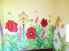 Experienced mural artist based in Cheshire, hand painting wall murals for homes, schools and businesses across the UK. Mural painter for children's and modern wall art. Chill Out Room, Garden Mural, Flower Mural, Hand Painted Walls, Mural Painting, Modern Wall Art, Wall Murals, Wild Flowers, Artist