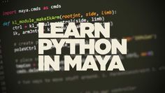 Learn how you can use python for maya under context with this new free course that explains how python works from the very beginning.
