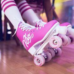 Rio Roller Rollschuhe Script Pink//Lilac