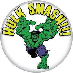 Button Pin Badge Marvel Comics Hulk Smash AB11 | eBay
