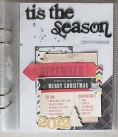 December Daily cover and title page by AllisonWaken at @Studio_Calico