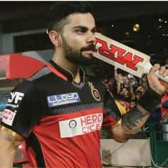 ❤Red army's captain after the match. #PlayBold #RCB #IPL2016 #ily