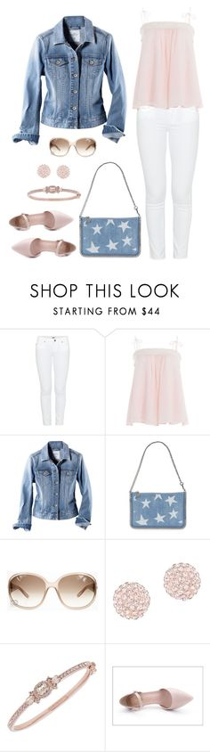 """Untitled #990"" by gallant81 ❤ liked on Polyvore featuring Paige Denim, See by Chloé, H&M, STELLA McCARTNEY, Gucci, Swarovski, Givenchy and Dusto"