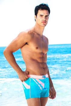 b43c42fd05cb9 Miami Art Deco Swimmer – Sauvage Mens Swim Shorts, Surf Shorts, Summer  Swimwear,