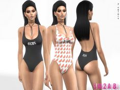 334 Maria Swimsuit by sims2fanbg at TSR • Sims 4 Updates