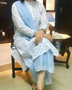wp automatic <img> Indian Style pakistani kurta dress With dupatta Pent Flared Top Tunic Set blouse - Salwar Designs, Kurti Designs Party Wear, Kurta Designs Women, Kurti Sleeves Design, Kurta Neck Design, Salwar Pattern, Kurta Patterns, Salwar Dress, Punjabi Dress