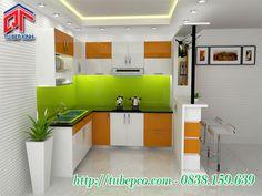 Tủ bếp thiết kế nổi bật cho không gian ấn tượng độc đáo TBX076