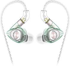 SIMGOT Hi-Res in-Ear Monitor Headphones, IEM Earphones with Detachable Cable, Hybrid Balanced Armature Dynamic Driver, Noise-Isolating Musician's Headset for Smartphones and Audio Players (Green) In Ear Monitors, Anime Galaxy, Hifi Stereo, All Smartphones, Digital Audio, Show, Headset, Headphones, Kpop Guys