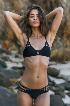 ISSA DE' MAR Sunset Reversible Bikini Bottom Bikini Bottom | Reversible Black/Tribal|Rachel