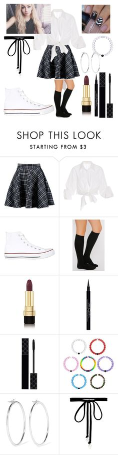 """Stereotypical Private School Outfit"" by kitty-kat-girl ❤ liked on Polyvore featuring Boohoo, Johanna Ortiz, Converse, Dolce&Gabbana, Givenchy, Gucci, Jennifer Fisher and Joomi Lim"
