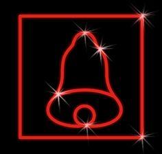 LED dekorácia červená - zvonček v štvorci - 600mm