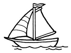 Sailboat Coloring Pages For Kids Boat Cartoon, Sailboat Art, Sailboats, Boat Crafts, Color Pad, Blue Boat, Free Printable Coloring Pages, Drawing For Kids, Drawing Ideas