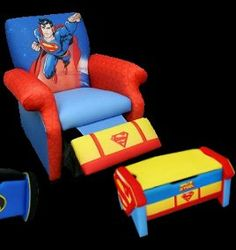 Kids Superman chair and toy box