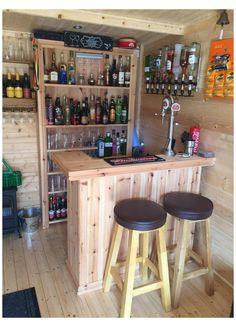 Diy Bar, Diy Home Bar, Home Bar Decor, Home Bars, Mini Bars For Home, Patio Bar, Backyard Bar, Bar Lounge, Lounge Ideas