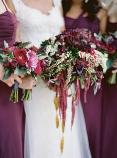 Fall berry-hued blooms: http://www.stylemepretty.com/collection/2787/