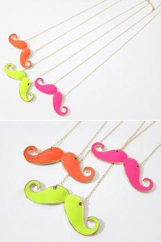 Affendi Mustache Shape Necklace