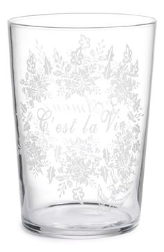 Kiss That Frog 'L'Amour C'est la Vie' Drinking Glass available at #Nordstrom