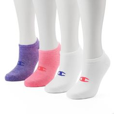 Champion Women's 4-pk. Cushioned Performance No-Show Socks, Multicolor