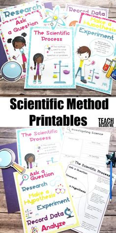 ADORABLE Scientific Method Worksheets and posters to print and use in your science lessons!