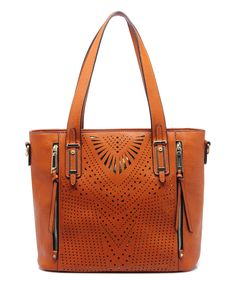 Look at this MKF Collection Brown Cutout Zip-Pocket Tote on #zulily today!
