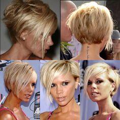Choppy Bob Hairstyles, Short Layered Haircuts, Bob Hairstyles For Fine Hair, Short Hairstyles For Women, School Hairstyles, Black Hairstyles, Thin Hair Cuts, Medium Hair Cuts, Victoria Beckham Short Hair