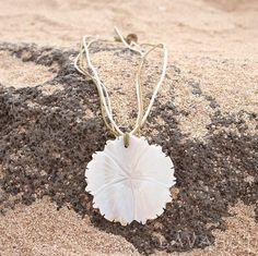 Hibiscus Mother of Pearl Hawaiian Necklace