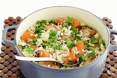 Chicken and leek rice