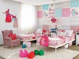 Scrapbook papered wall - TOY ROOM