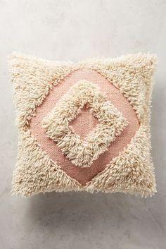 Langdon Shaggy Diamond Pillow, Blush - X - Polyfill. Anthropologie Bedroom, Pillow Room, Pillow Talk, Textiles, Punch Needle, Metallic Thread, My New Room, Shaggy, Soft Furnishings