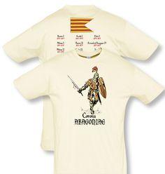 Camiseta serie caballeros: Corona Aragoniae. Diseñada por Escobar.