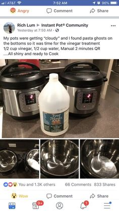 Cleaning the pot - my favorite part of this post is the angry emoji at the top . Cleaning the pot – my favorite part of this post is the angry emoji at the top … Cleaning the pot – my favorite part of this post is the angry emoji at the top Power Pressure Cooker, Electric Pressure Cooker, Instant Pot Pressure Cooker, Pressure Cooker Recipes, Pressure Cooking, Slow Cooker, Instant Crock Pot, Instant Pot Dinner Recipes, Instant Recipes