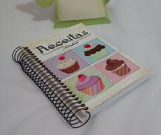 Caderno de Receitas Cup Cakes Médio