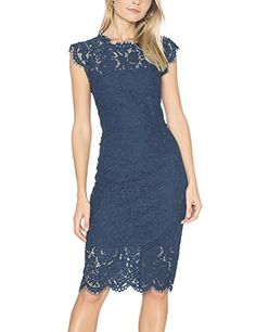 8cc90304c4 Shop a great selection of MEROKEETY Women s Sleeveless Lace Floral Elegant  Cocktail Dress Crew Neck Knee Length Party. Find new offer and Similar  products ...