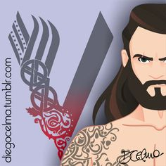 Work In Progress II Rollo Lothbrok played by Clive Standen on TV series Vikings. Soon the full illustration! #WIP #WorkInProgress #illustration #Rollo #RolloLothbrok #CliveStanden #Vikings #warrior #sketch #vector #drawing #art #tvseries #beard #muscle #tattoo https://www.facebook.com/diegocelmailustrador