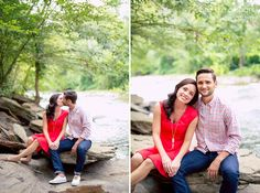 Caroline + Genry. Engaged. In Love. Engagement Photos. Old Mill Park. Roswell, Ga. Photographer. Engagement Photography. #photographer