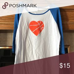 Women's bling basketball shirt Great condition Tops Tees - Long Sleeve
