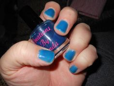 Into The Arctic jelly nail polish from Creations By Lynda LLC worn by Heather.