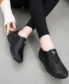 968d3da7edf Flats Lady Genuine Leather Shoes Comfortable Soft Shoes