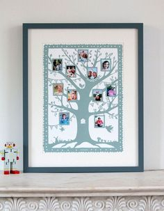 papercut family tree, nice for room for pictures, artist?