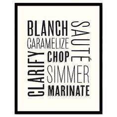 Framed Print - Cooking Words #westelm