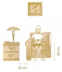 Espaço entre a mesa e o sofá