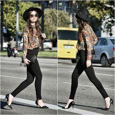 Mango Shirt, Mango Bag, American Apparel Jeans, Zara Heels, Filippo Catarzi Hat, Miu Miu Sunnies