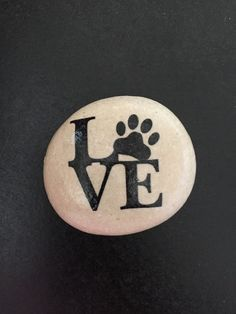Love with Paw Print stone paw print art animal by FloridaFunshine