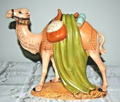 Dollhouse Miniature Unfinished Metal Nativity Piece Laying Camel