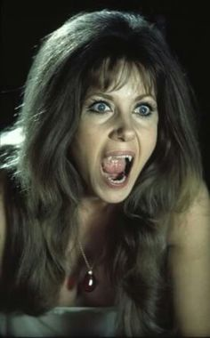 "Ingrid Pitt bares her fangs in Hammer Films' ""The Vampire Lovers"" Hammer Horror Films, Hammer Films, Female Vampire, Vampire Girls, Horror Icons, Horror Art, Gothic Horror, Alyssa Milano, Scary Movies"